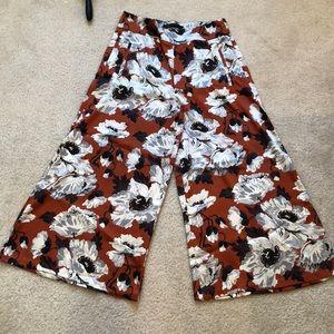 Zara summer flower pant size M